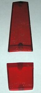 1966 Plymouth Barracuda Original Right Tail Light Lenses, Red Upper & Lower