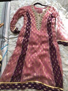 Asian Wedding Clothes - Indian Pakistani Gold Party Dress