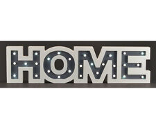 LED Wood Sign HOME White and Gray with Timer 23.62L x 1.30W x 5.98H