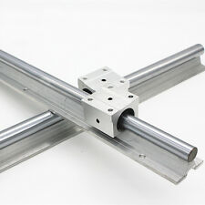 2X SBR20 2000mm LINEAR RAIL 20MM fully suppoeted SHAFT ROD + 4 SBR20UU Block