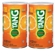 Two 72 oz Cans Tang Orange Flavored Drink Mix makes 22 Quarts each 44 Qt.