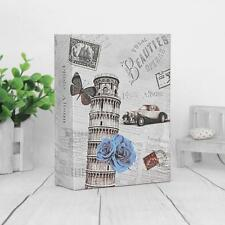 "6""x4"" Slip In Photo Album For 200 Holds Vintage Leaning Tower Baby Memory Book K"