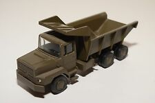 LION CAR DAF TORPEDO N2800 TRUCK DUMPER ARMY GREEN N MINT CONDITION RARE SELTEN