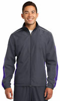 Sport-Tek Men's Athletic Polyester Cadet Collar Winter Wind Jacket. JST61