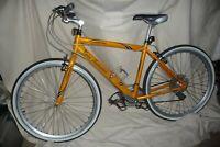 Cycling LAMBORGHINI LEGGENDA 19 inch SHIMANO brakes & gears mustard/yellow