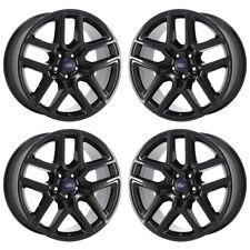 "20"" Ford Explorer Sport Black Wheels Factory Oem 2017 2018 Set 10061 Exchange"