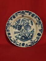 Delft, XVIII ème s, ancienne Assiette en faience