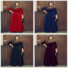 Plus Size 3/4 Sleeve Formal Ballgowns for Women