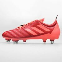 adidas Malice Soft Ground Rugby Boots Mens Red/Black Football Cleats Footwear