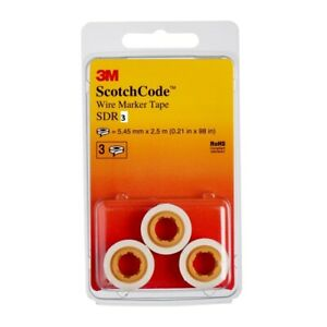 3M SCOTCH CODE SDR3 SDR2 WIRE MARKER TAPE REFILL 3 PACK