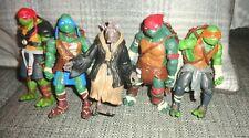 5PCS Lot TMNT Teenage Mutant Ninja Turtles Action Figures Movie Xmas Gift