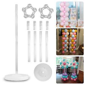 Large Balloon Arch Set Column Stand Base Frame Kit Wedding Birthday Party Decor