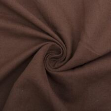 Siletto Plain Brown Chenille Linen Look Upholstery Fabric