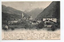 SUISSE SWITZERLAND Canton du VALAIS VIEGE VISP carte 1900