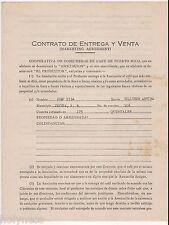 VTG CONTRACT / COOPERATIVA DE COSECHEROS DE CAFE DE PUERTO RICO 1941