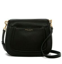 New Marc Jacobs Empire City Mini Messenger Black Leather Crossbody Bag