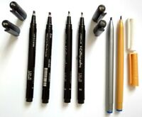 6 X  CHISELLED NIB CALLIGRAPHY PENS- 2 COLOURS- 2mm & 3mm - For calligraphy, Etc