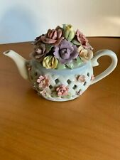 San Francisco Music Box Co - Anna Rosa Collection- Flowers in Teapot - Intricate