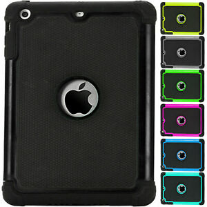 """Workman Shockproof For Apple iPad 10.2"""" & Air THREE Heavy Duty Armour Case Cover"""