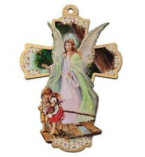"Large 8"" GUARDIAN ANGEL Wall Cross ~ Child Baby Baptism Communion Gift ~ NEW"