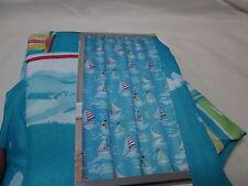 Regal Bath Collection Chesapeak Sailboat Water Repellant Shower Curtain ~ Blue