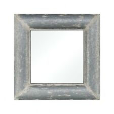 Square Wall Mirror With Distressed Frame Made Of Iron/Mdf/Mirror In Distressed