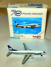 HERPA  LOT POLISH AIRLINES BOEING 737-400  #5O1339 1/500  DIECAST PLANE