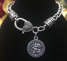 Saint Michael Medal St Michael Silver Bracelet Archangel Michael Pendant Charm