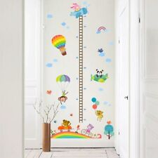 Wall Stickers Hot-air Balloon Growup Chart Height Quote PVC Decor Decals Kids