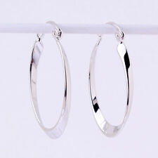18k white gold filled new Retro engagement Snap Closure Vintage hoop earring