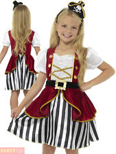 Girls Deluxe Pirate Costume Child Caribbean Captain Fancy Dress Book Week Outfit