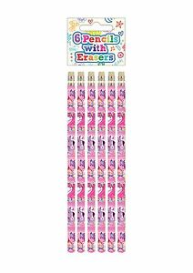 6 Pack Pony Ponies Horse Pencils Girls Kids Party Bag Fillers School Stationery