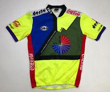 Louis Garneau Haiti Coca Cola Desso Men's Cycling Jersey SS Size Large Volt Neon