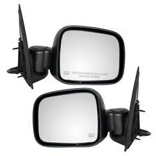 New Pair Set Power Side View Mirror Glass Housing Heated 02 03-07 Jeep Liberty