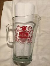 Old Milwaukee Glass Pitcher Red Eagle Emblem