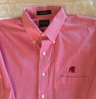 Men's Alabama crimson tide Shirt Large, Buttondown, The Shirt Shop, Long Sleeve