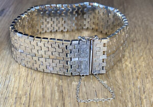 Vintage Art Deco Style 18 Carat Gold Plated Chunky Bracelet