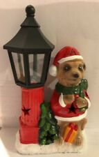 Christmas Light Up Meerkat Decoration New With Batteries