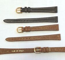 Morellato Genuine leather stitched  watch strap 12mm Italian made