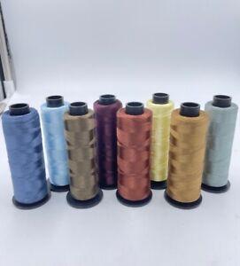 Stickgarn 76x 2000m Konen manifattura italiana cucirini Lustro 100% Polyester