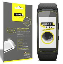 3x Samsung Gear Fit 2 Schutzfolie, 100% Displayabdeckung, dipos Flex Folie