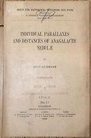 Individual Parallaxes Distances Anagalactic Lundmark Stockholm 1928 astronomia