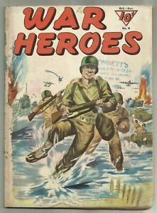 "WAR HEROES #6 (True WWII Stories, Capt. Joseph J Foss, ""Manilla John"") Dell 1943"