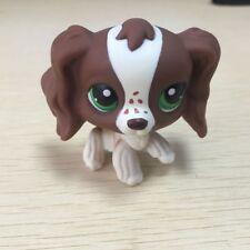 LPS #156 Brown Cocker Spaniel Dog Green Eyes Littlest pet shop