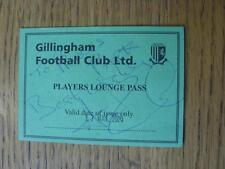 17/05/2000 BIGLIETTO: play-off semi-finale Division 2-Gillingham V Stoke City (PLA