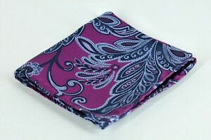 Lord R Colton Masterworks Patras Purple Floral Pocket Square Silk New