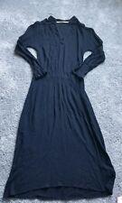Twelfth Street by Cynthia Vincent Black Silk Short Sleeve Midi Dress Size Small