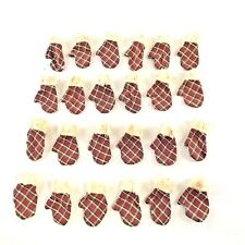 "Salem Collection - 2"" Mini Fabric Mitten Ornaments - (Set of 24 each)"