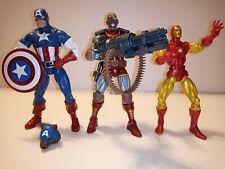 "Marvel Legends Hasbro 6"" Deathlok Captain America & Iron Man action figure lot"
