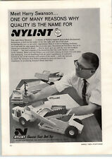 1969 PAPER AD Nylint Toy Elevating Scraper Turbo Power Steel Toys